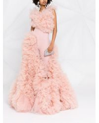 Loulou Ruffled Tulle Gown - Pink