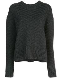Jason Wu Zigzag Print Sweater - Grey