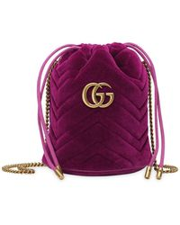 Gucci Marmont Bucket Bag - Pink
