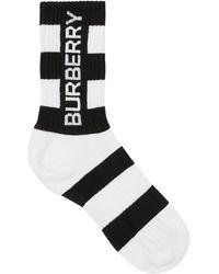 Burberry Носки С Логотипом - Белый