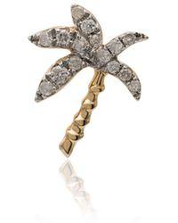 Yvonne Léon 18k Yellow Gold Palm Tree Diamond Earring - Metallic