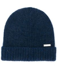 Woolrich - Ribbed Knit Beanie - Lyst