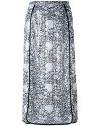 Marco De Vincenzo - Embellished Polyester Midi-length Skirt - Lyst