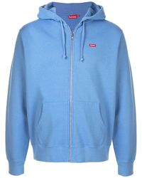 Supreme Small Box Zip Up Hoodie - Blue