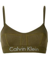 Calvin Klein Jeans - Logo Trim Bralette - Lyst