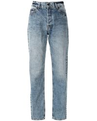 EVA Vintage Faded Style Jeans - Blue