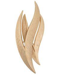 Susan Caplan Spilla a forma di foglia anni '60 - Metallizzato