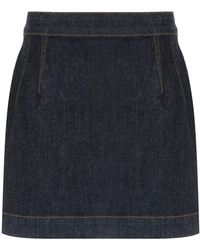 À La Garçonne High Waisted Denim Skirt - Многоцветный