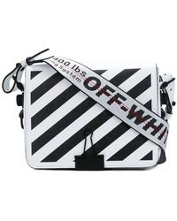 Mini Striped Textured-leather Shoulder Bag - one size Off-white gaPJSOB0