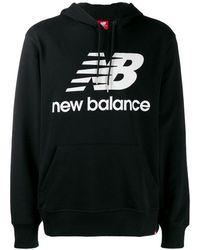 New Balance ロゴ パーカー - ブラック
