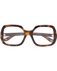 Gucci - スクエア 眼鏡フレーム - Lyst