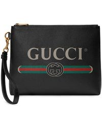 Gucci - Pochette à logo imprimé - Lyst