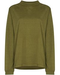 Les Tien ハイネック スウェットシャツ - グリーン