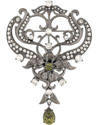 Alberta Ferretti Spilla decorata Crystal - Multicolore