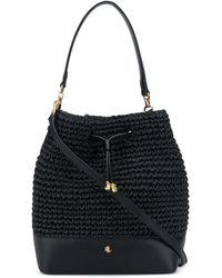Lauren by Ralph Lauren Debby Straw Bucket Bag - Black