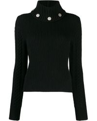 Alexander McQueen Studded Ribbed Knit Sweater - Black