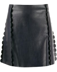 Chloé Scalloped A-line Skirt - Multicolour