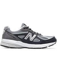 New Balance - Grey 990v4 Lace-up Trainers - Lyst