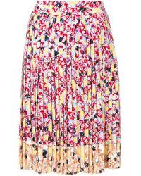 Jil Sander Navy - Floral Midi Skirt - Lyst