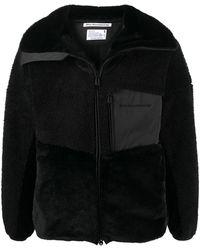 White Mountaineering フリースパネル ジャケット - ブラック