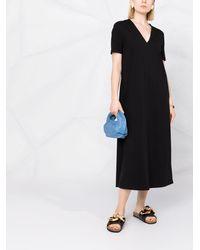 Harris Wharf London Vネック ドレス - ブラック