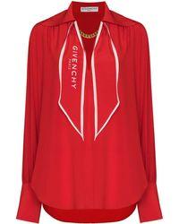 Givenchy Blouse Met Sjaalkraag - Rood