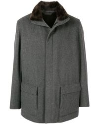 Loro Piana Winter Voyager Textured Coat - Grey