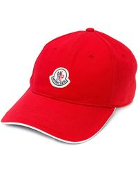 Moncler Logo Patch Cap - Red