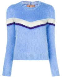 N°21 テクスチャード セーター - ブルー