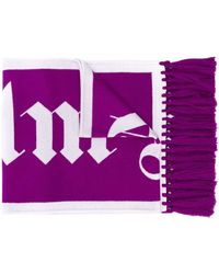 Palm Angels Шарф С Логотипом - Пурпурный