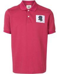 Kent & Curwen Polo con parche de rosa - Rojo