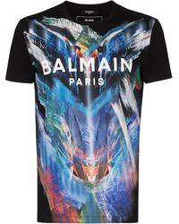 Balmain グラフィック Tシャツ - ブラック