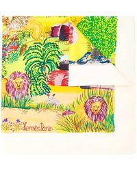 Hermès 'Nuba Mountain' Schal - Gelb