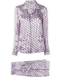 Prada Пижама С Узором - Пурпурный