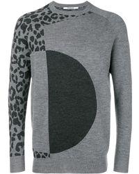 Chalayan Leopard Print Sweater - Grey