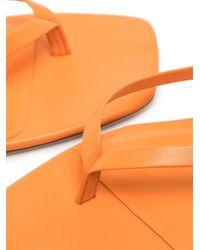 STUDIO AMELIA Square-toe Flip Flop Sandals - Orange