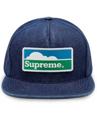 Supreme Horizon 5-panel Cap - Blue
