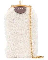 Marni Сумка Для Телефона Из Овчины - Белый