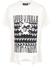 Mostly Heard Rarely Seen Branded Felix Upside Down T-shirt - White