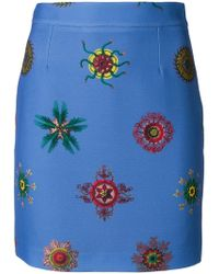 Frankie Morello - Printed Mini Skirt - Lyst