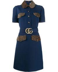 Gucci - GG ベルテッド ドレス - Lyst