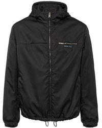 Prada Nylon Gabardine Jacket With Hood - Zwart