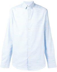 Natural Selection Slate Striped Shirt - Blue