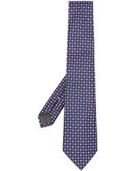 Canali Corbata con bordado - Azul