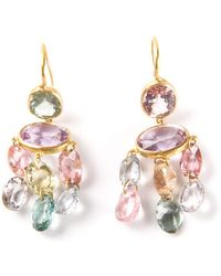 Marie-hélène De Taillac - 22kt Yellow Gold 'gabrielle' Tourmaline Earrings - Lyst