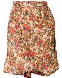 Isabel Marant 'Ferna' Minirock mit floralem Print - Mehrfarbig
