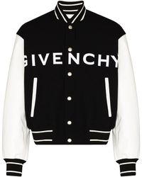 Givenchy Contrasting-sleeves Bomber Jacket - Черный