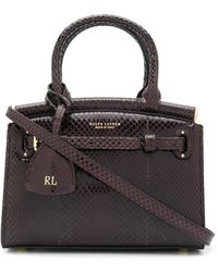 Ralph Lauren Collection - Bolso shopper con logo en relieve - Lyst