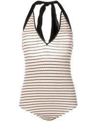 Forte Forte - Striped Bodysuit - Lyst
