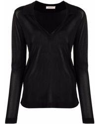 Nina Ricci Vネック セーター - ブラック